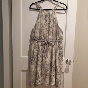 Banana Republic grey & white python print dress